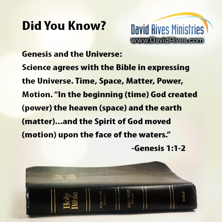 Bible Knows Best: Atoms, The Dust of the World?