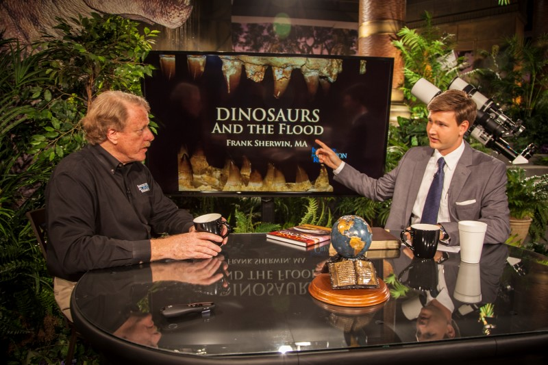 """Creation in the 21st Century"" episode: ""Terrible Lizards: Dinosaurs and the Flood"" with guest Frank Sherwin of ""Institute for Creation Research"""
