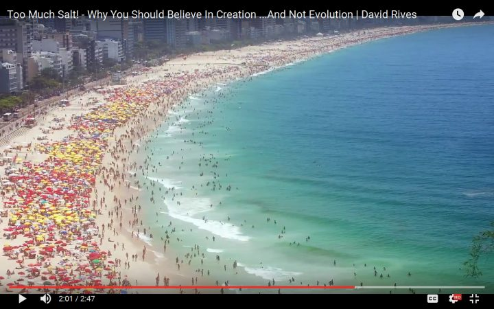 Too Much Salt! – Why You Should Believe In Creation …And Not Evolution | David Rives