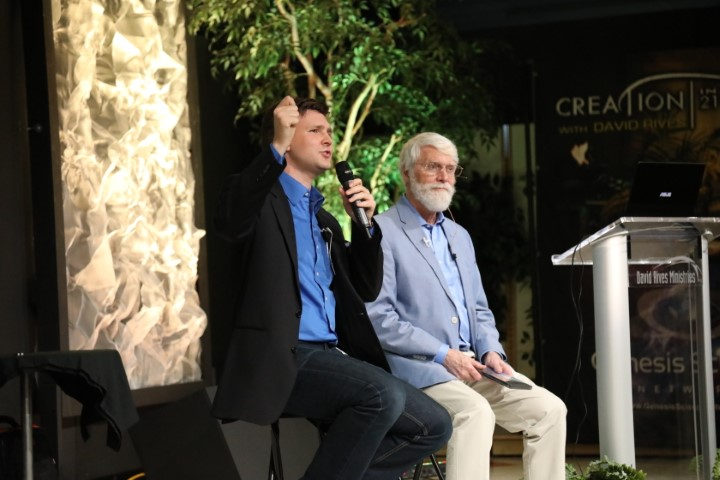 David Rives and Dr. Russ Humphreys at the Wonders of Creation Center