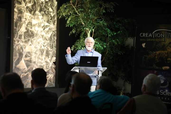 Dr. Russ Humphreys speaking the Wonders of Creation Center in Lewisburg, TN
